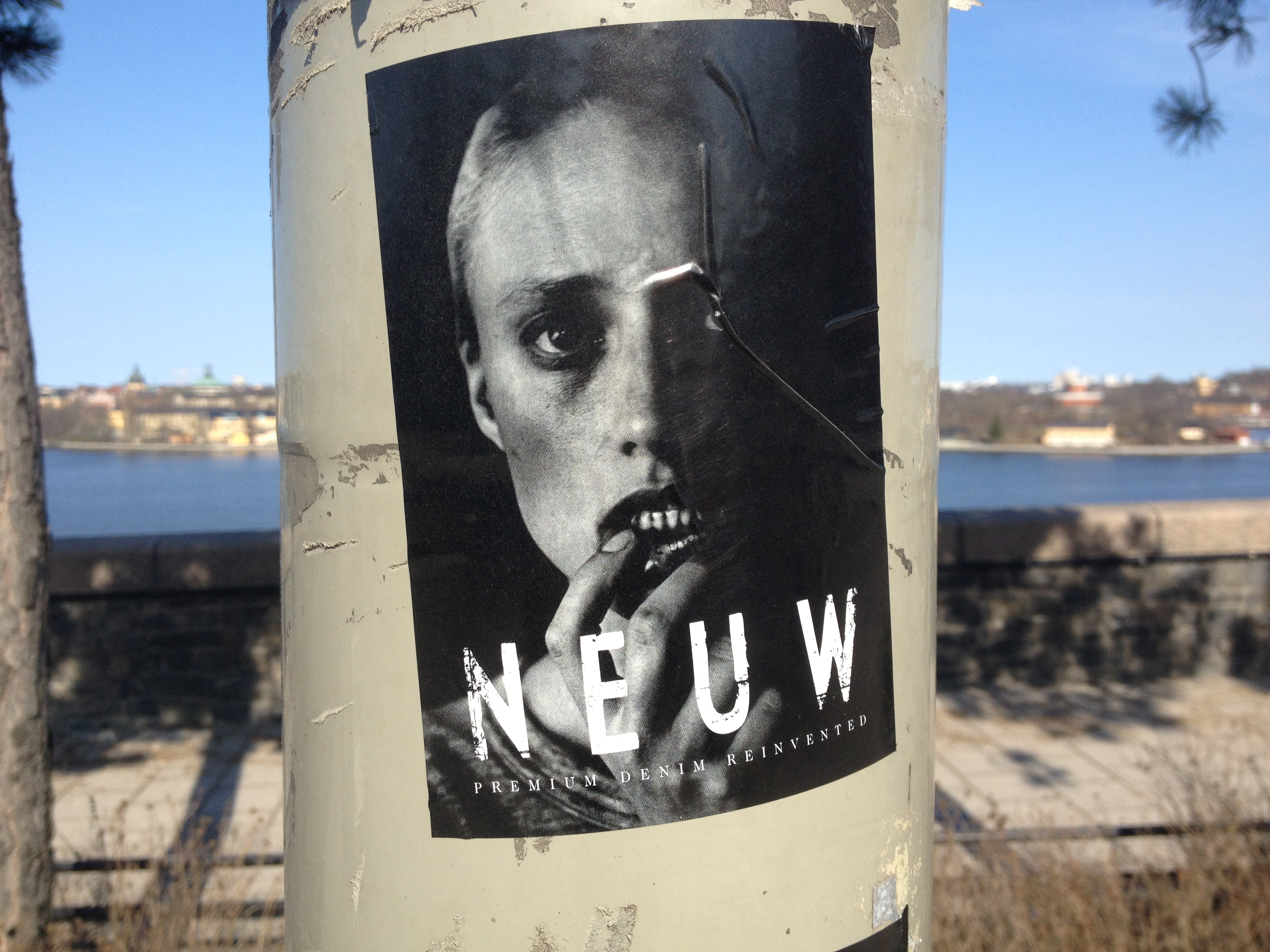 Neuw Denim stickers in stockholm