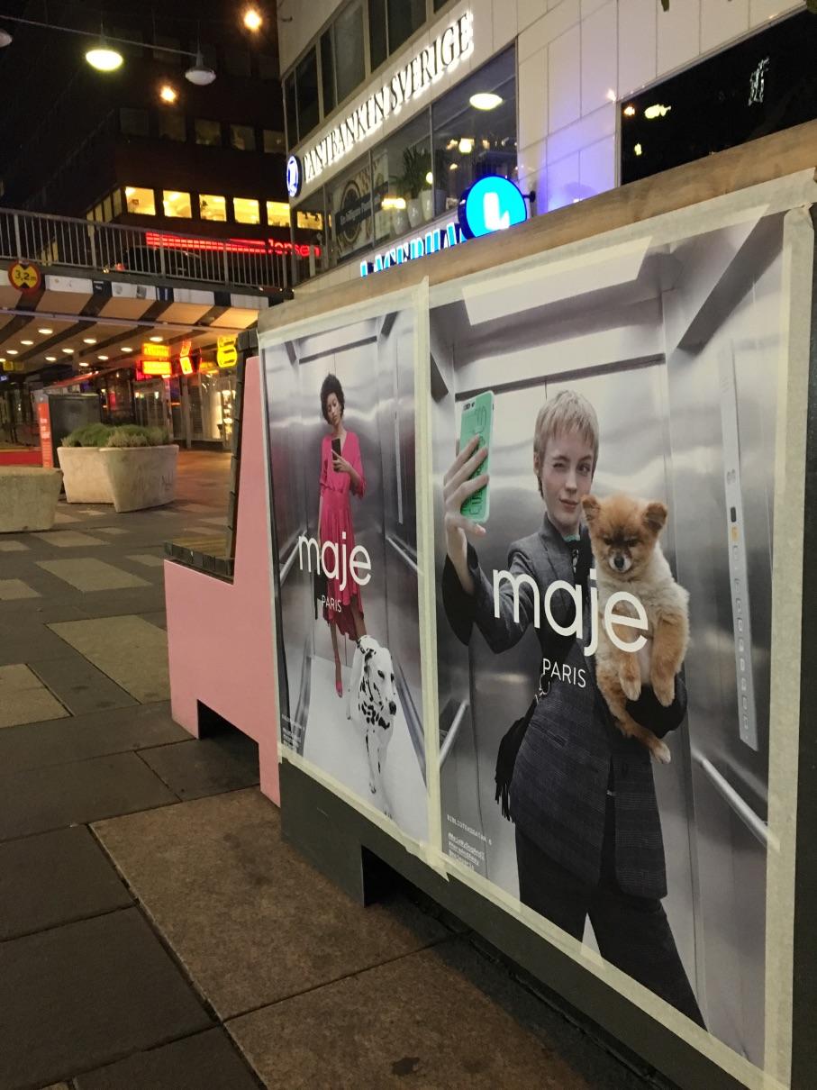 Maje-paris-affischering-stockholm