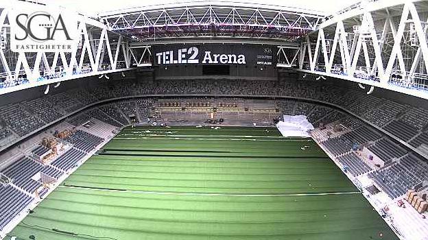 Fotbollsstadium. TELE2 arena