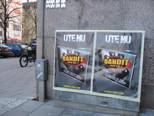Affischering för Radio Bandit